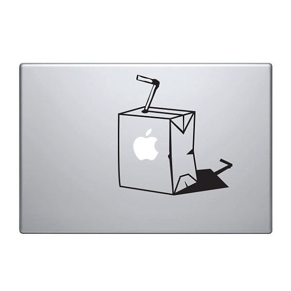 Apple Juice Carton Vinyl Decal Sticker To Fit Macbook Pro - Custom vinyl decals for macbook pro