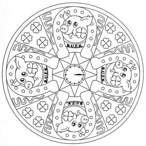 Mandala Coloring Page Lucky New Year Mandala Coloring Pages Mandala Coloring New Year Coloring Pages