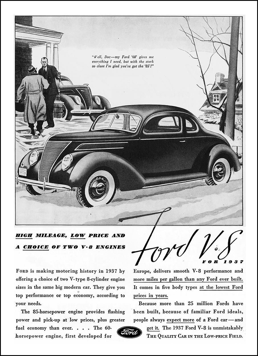 1937 Ford Ad Ford Classic Cars American Classic Cars Ford