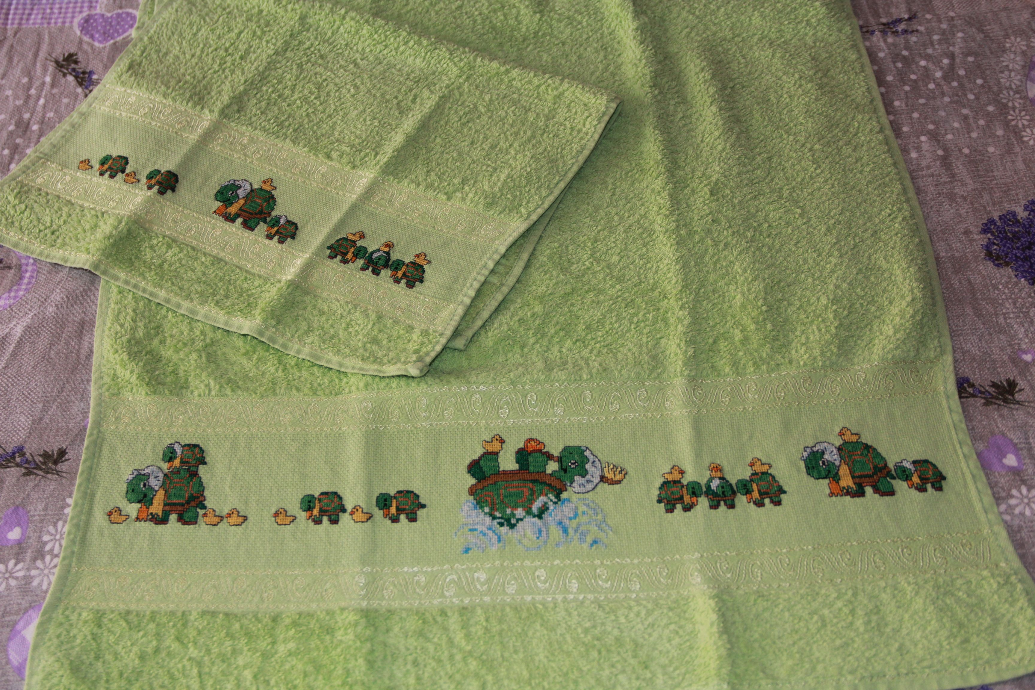 Set Asciugamani Con Tartarughe