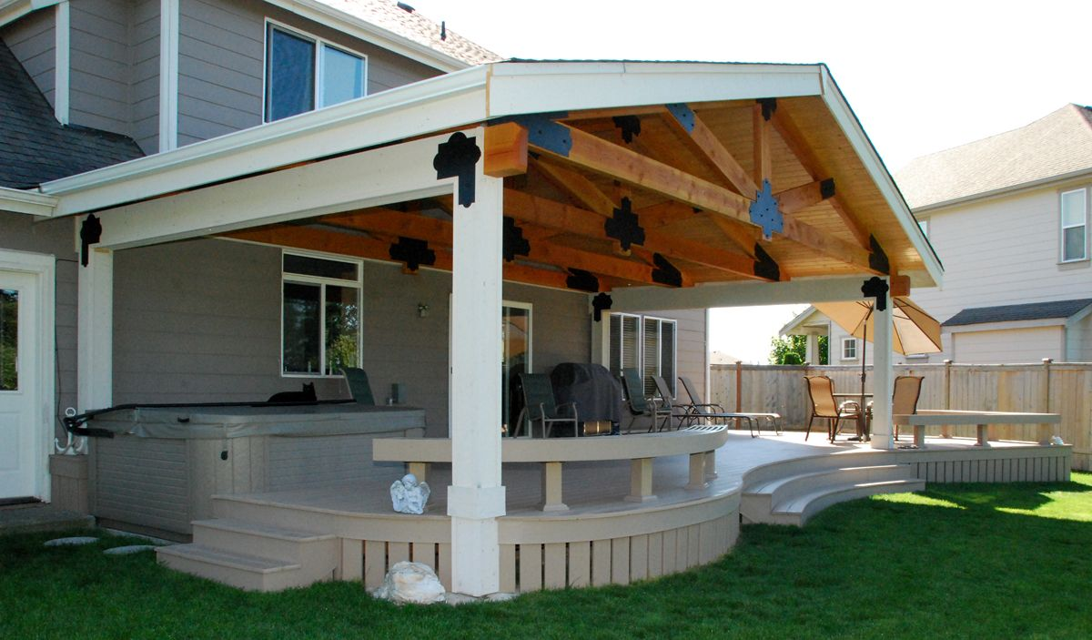 San antonio patio covers by premier deck and patios offer for Patio cover ideas designs