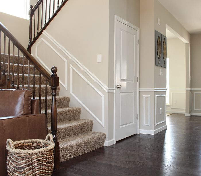 Staircase Ideas For Your Hallway That Will Really Make An: Moldings: To Paint Or Not To Paint