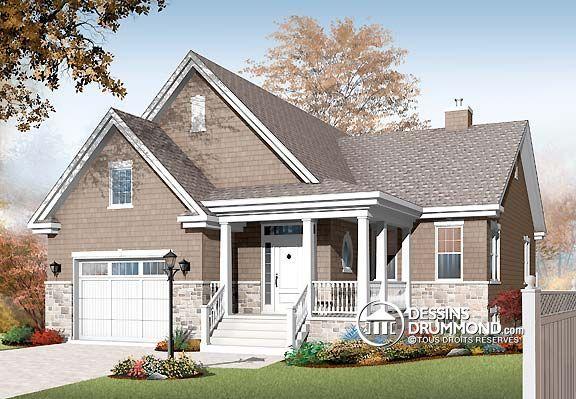 W3219-V1 - Pour famille recomposée, 4 chambres, 2 séjours, coin - plan de maison design