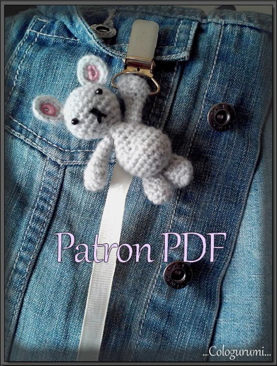 patron pdf tutoriel attache t tine au crochet mod le amigurumi ourson suspendu amigurumi. Black Bedroom Furniture Sets. Home Design Ideas