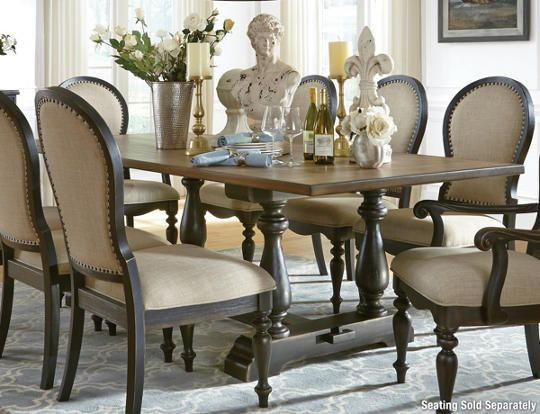 cambria trestle dining table - art van furniture | lets move