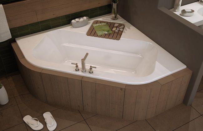 another skirted corner tub | For the Home | Pinterest | Corner tub ...