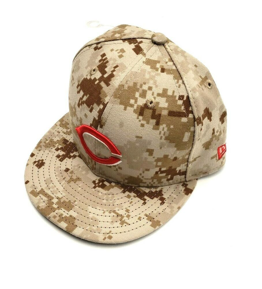 promo code d5f0b df94c New Era Cincinnati Reds 59Fifty On Field Digital Camouflage Fitted Hat Size  8