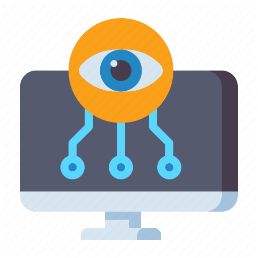 Computer Cyber Eye Icon Download On Iconfinder Icon Cyber All Icon