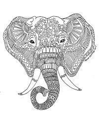 Resultado de imagen para elephant mandala coloring pages