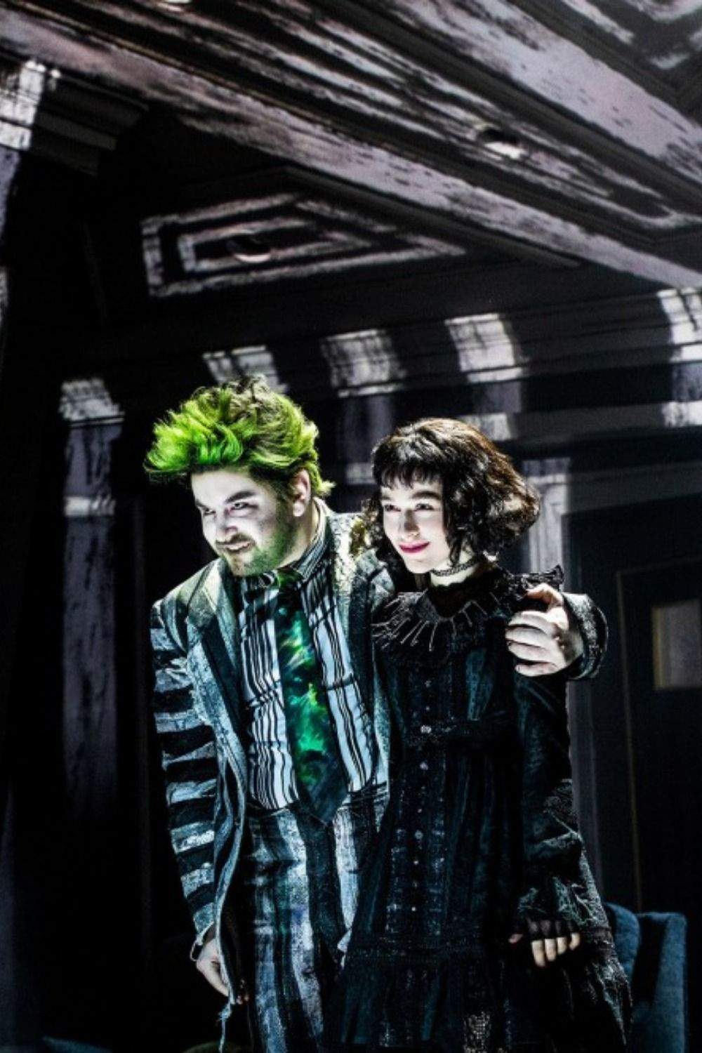 Check Out These Spooky New Production Photos From Broadway S Beetlejuice Beetlejuice Beetlejuice Costume Musicals