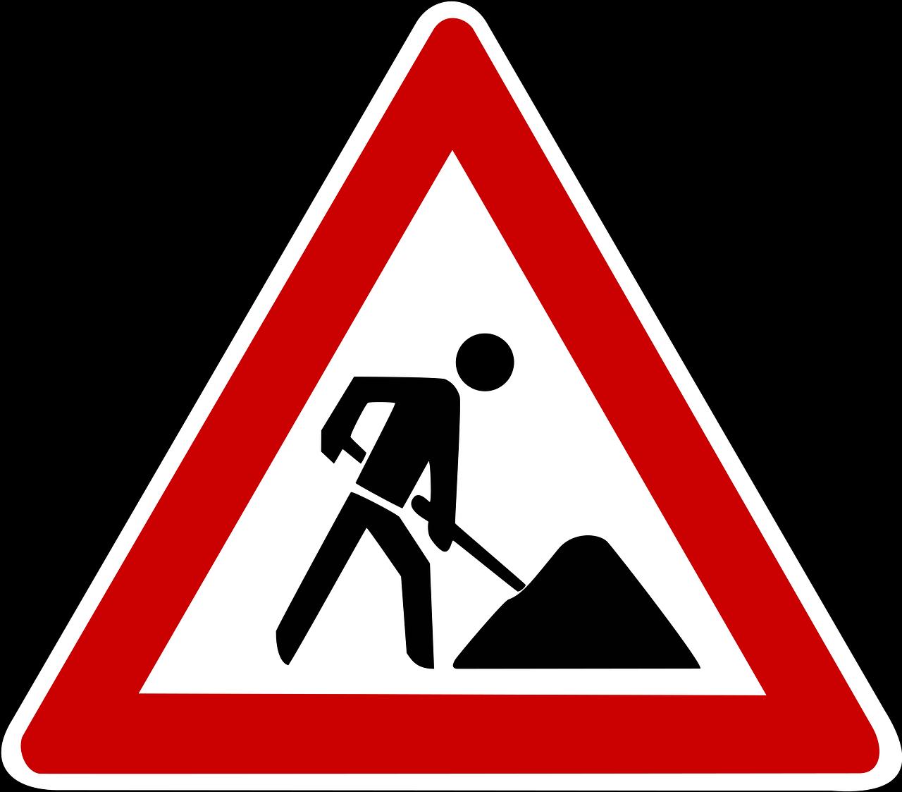 Kostenloses Bild auf Pixabay - Verkehrsschild, Verkehrszeichen |  Baustellenschild, Verkehrsschilder, Straßenschilder
