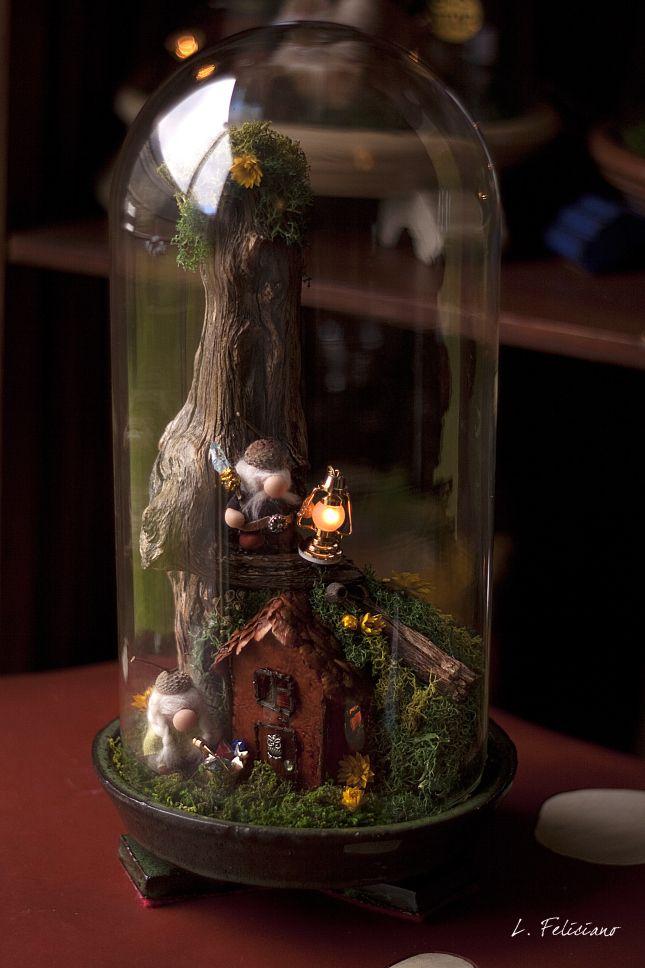 Treehouse bell jar via life in a bell jar craft o rama for Jardin glass jars