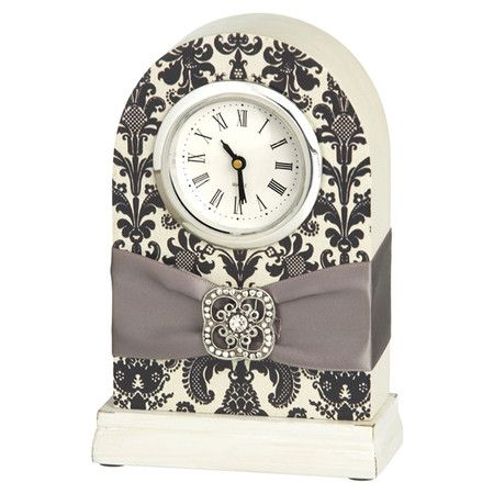 @Tina Doshi Williams  We need to make one like this.     Brocade Desk Clock from the La Belle Boutique event at Joss and Main!