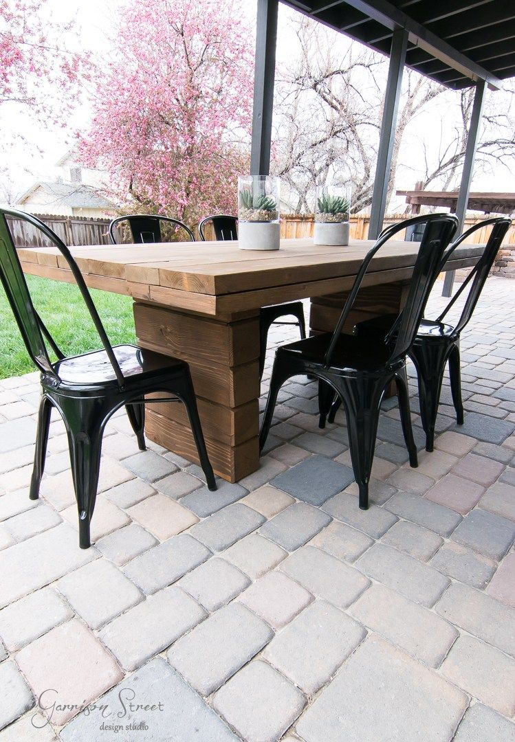 Diy Outdoor Dining Table Cheap Patio Furniture Outdoor Dining