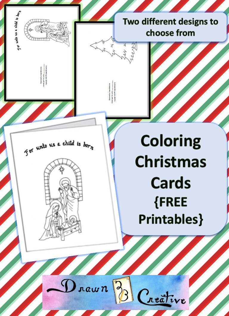 Coloring Christmas Cards {Free printable ones!} | Catholic ...