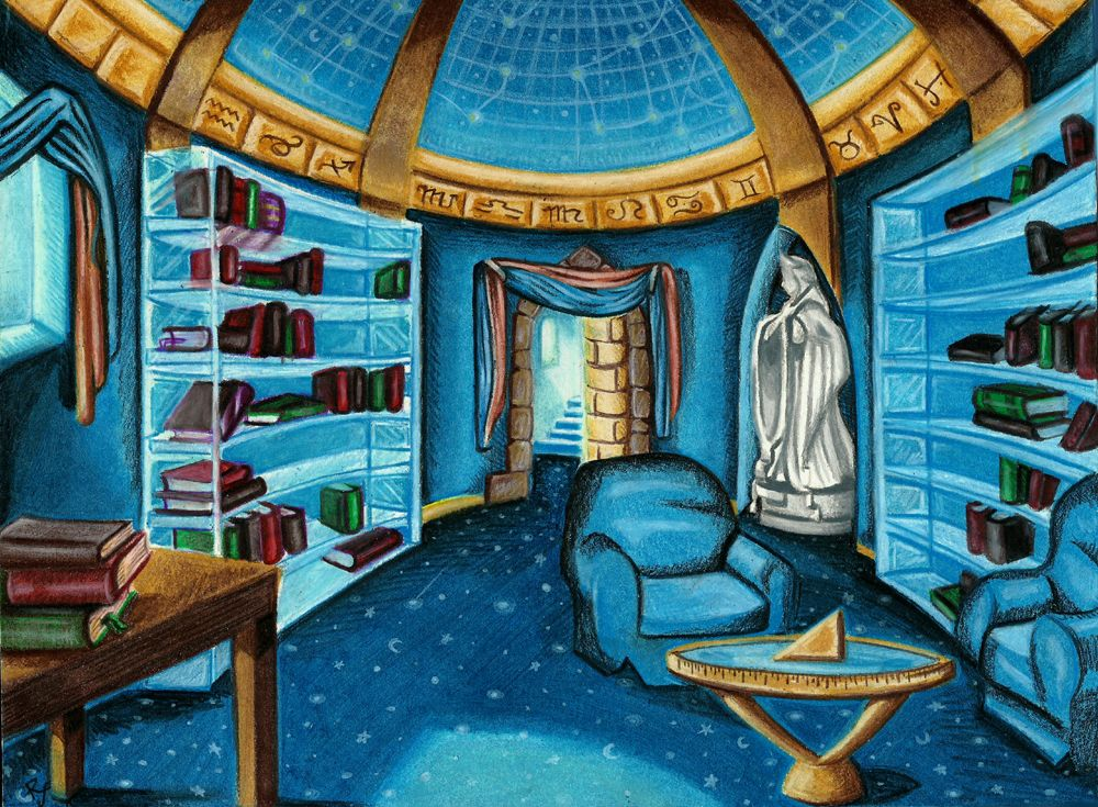 ravenclaw common room. Now THIS is home sweet home
