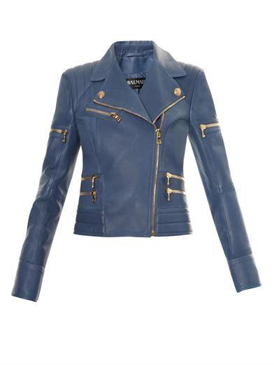 Leather biker jacket | Balmain | MATCHESFASHION.COM
