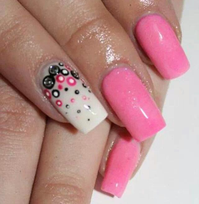 Pink inspiration #treat # nails # sparkle # awesome # beautiful # art # acrylic # sculpture