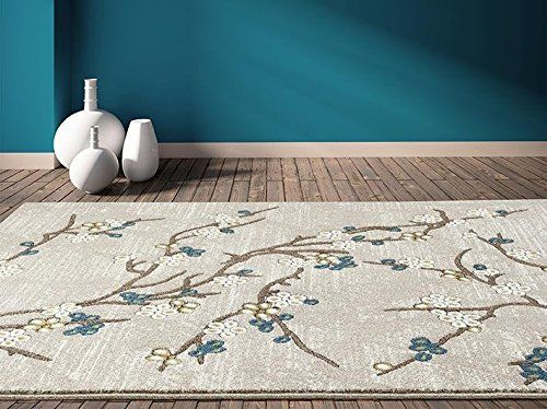 Persian Rugs 6055 Branches Beige Area