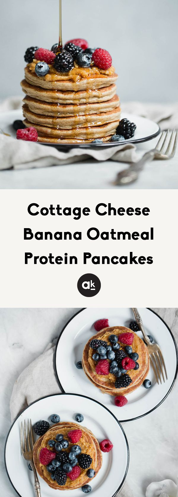 Cottage Cheese Banana Oatmeal Protein Pancakes Recipe In 2020 Oatmeal Protein Pancakes Banana Oatmeal Protein Pancakes