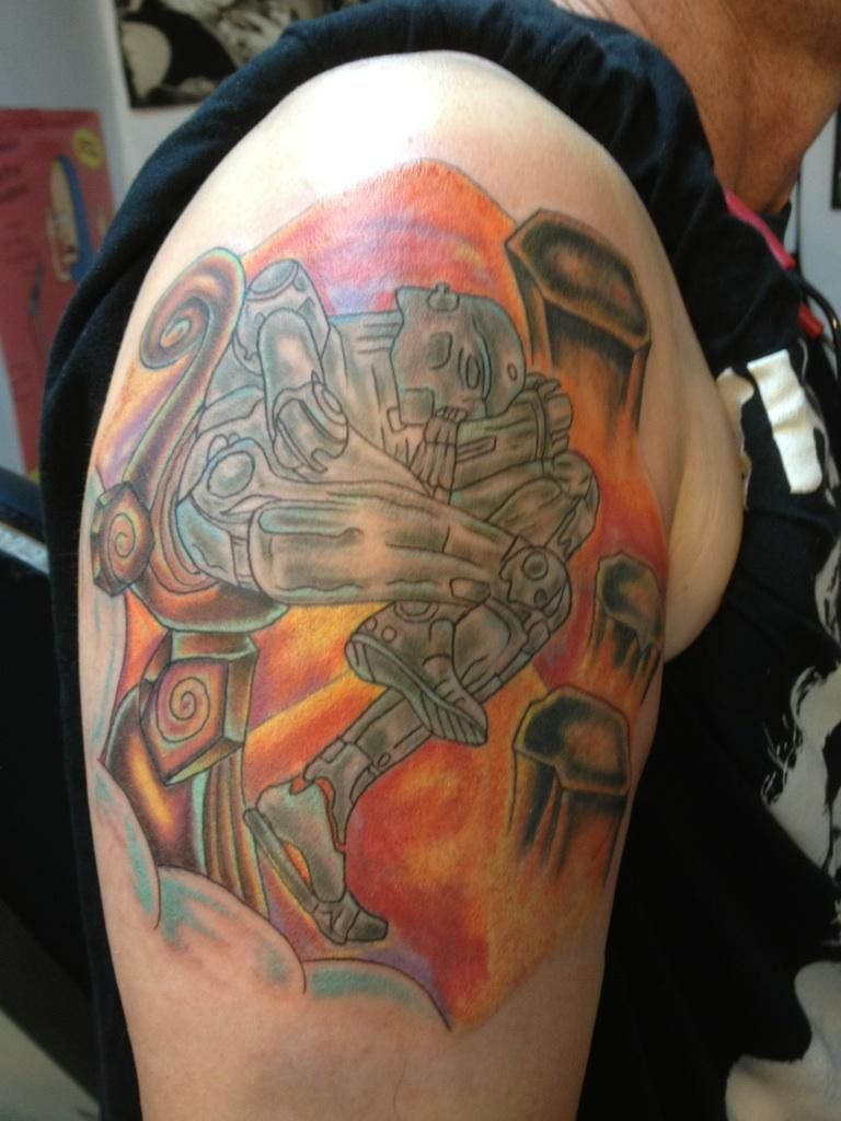 Deans New Tattoo The Sleeping Robot From The Cover Of An