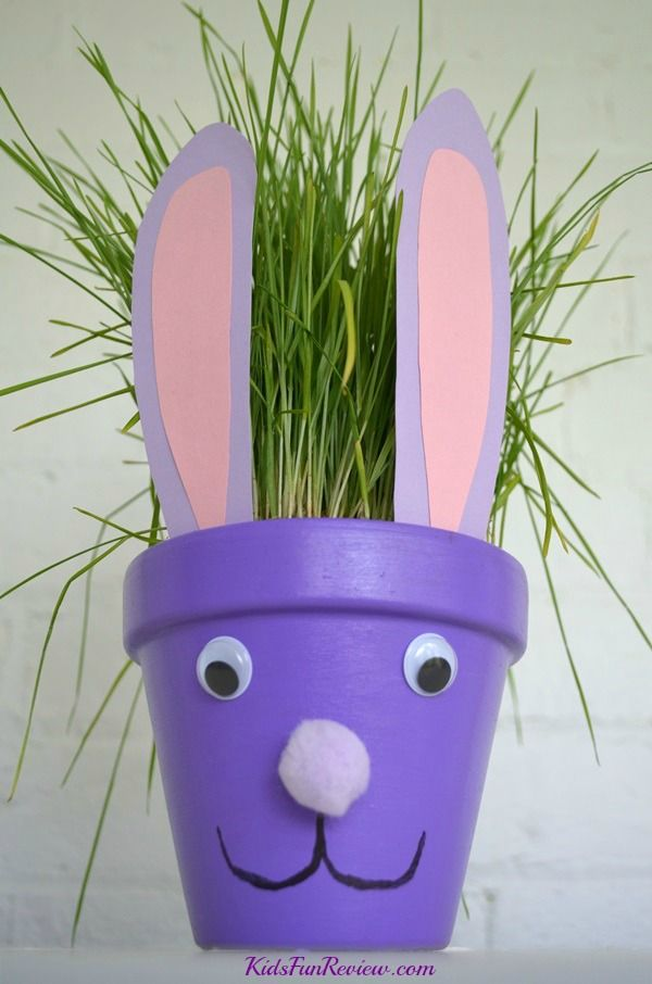 Easter bunny flower pot craft idea : flower pots decoration ideas - www.pureclipart.com
