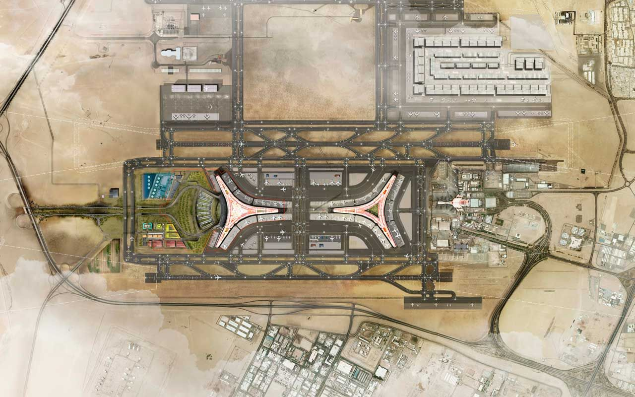 Aeroporto Kuwait : Kuwait international airport is planned to significantly