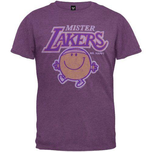 Mister NBA - Mens Mister Lakers Soft T-Shirt - Medium Purple Los Angeles Lakers http://www.amazon.ca/dp/B004CNCL30/ref=cm_sw_r_pi_dp_bjbjub1YRRHYE