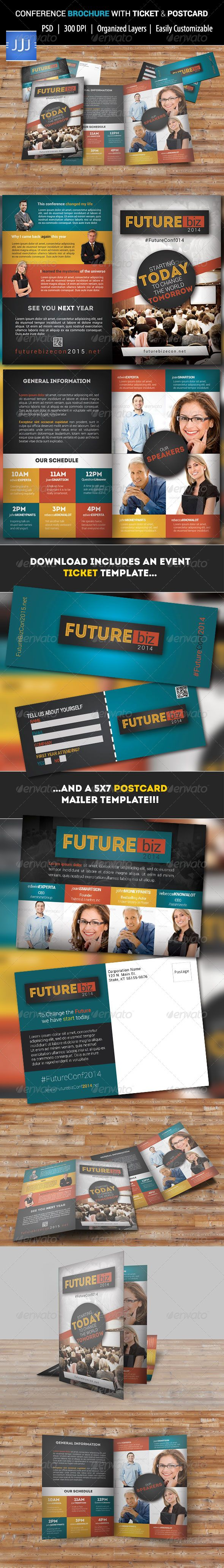 future conference bifold brochure template design download http