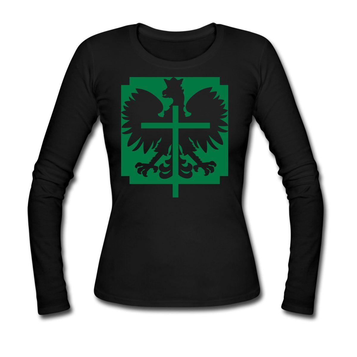 1a12f292dc24 Polska Long Sleeve Women ( Grün Glitzer ) - Frauen Langarmshirt ...