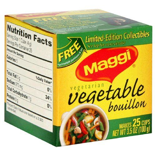 Maggi Vegetable Bouillon Cubes, 25-Count Boxes (Pack of 24