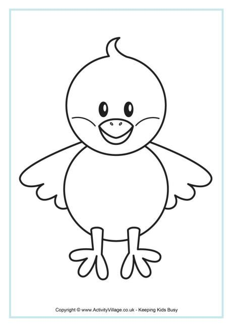 chick colouring page - Picture For Colouring