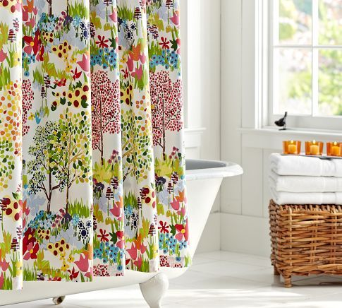 I Love This Pottery Barn Woodland Shower Curtain