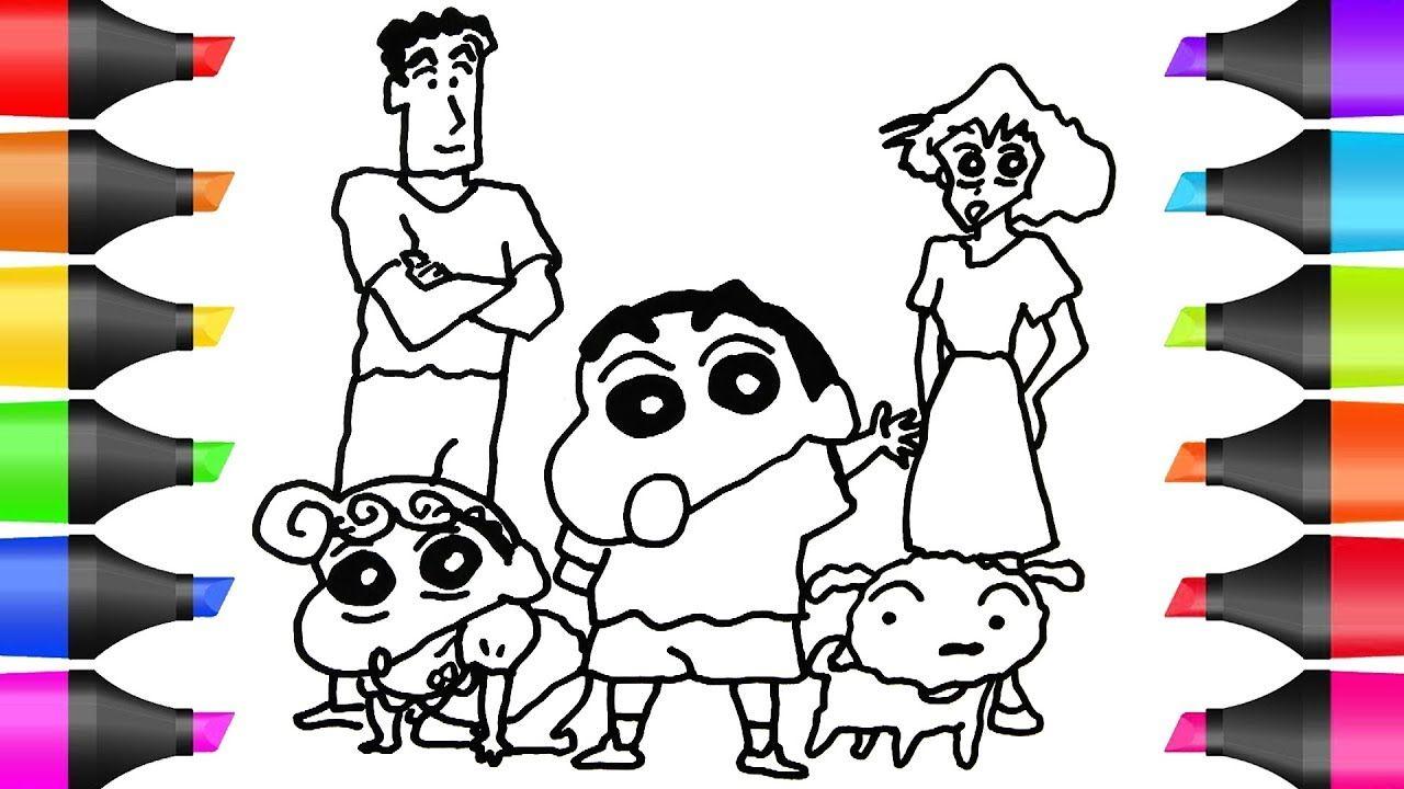 Drawing Shin Chan Family Coloring Pages Bobo Cute Art Family Coloring Pages Family Coloring Cute Art