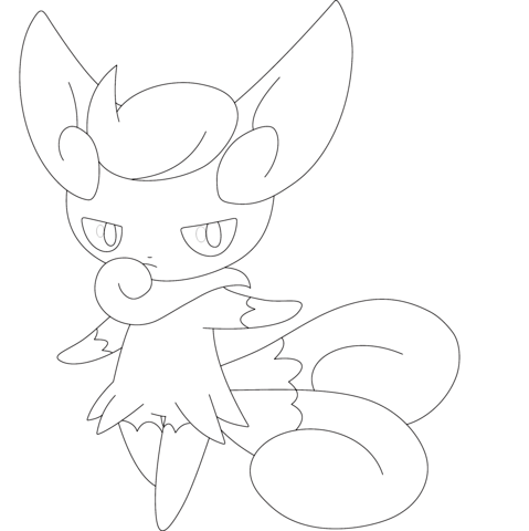 meowstic coloring page coloring pages