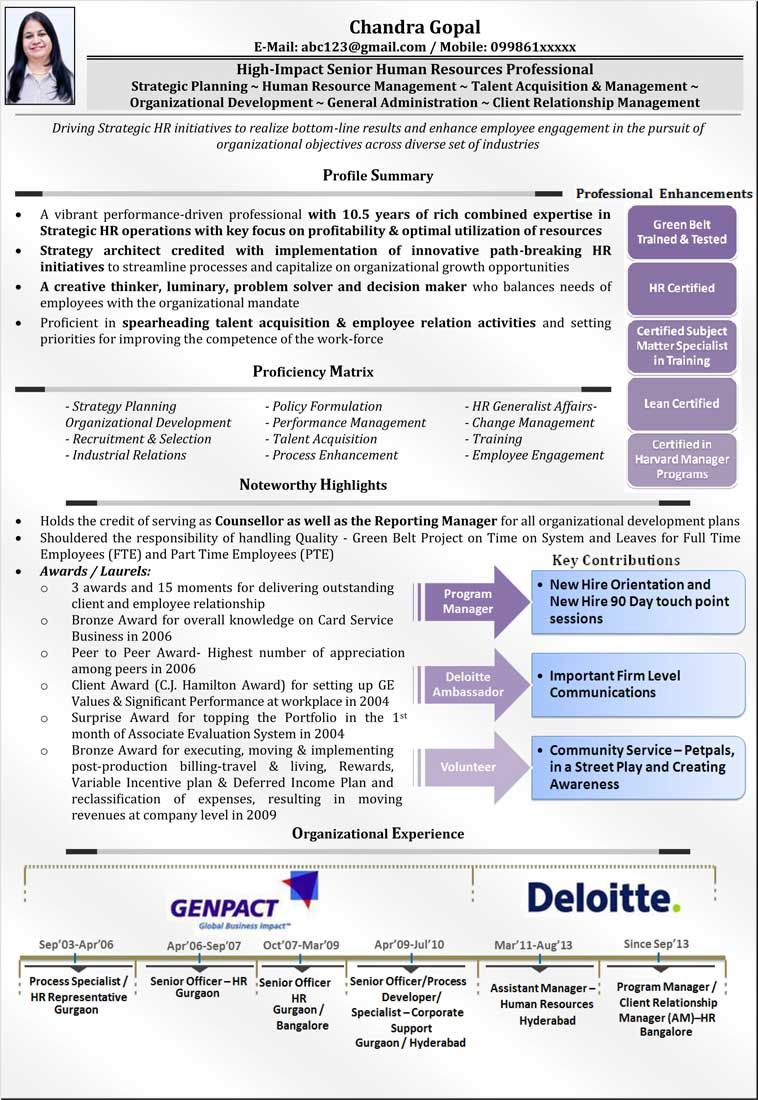 Human Resource Management Resume Senior Manager Visual Resume  Job  Pinterest  Resume Format