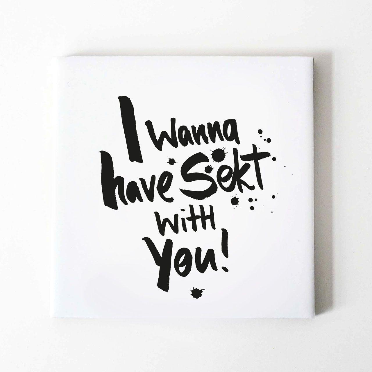 2er Pack Untersetzer I Wanna Have Sekt With You Keramikuntersetzer Untersetzer Korkboden