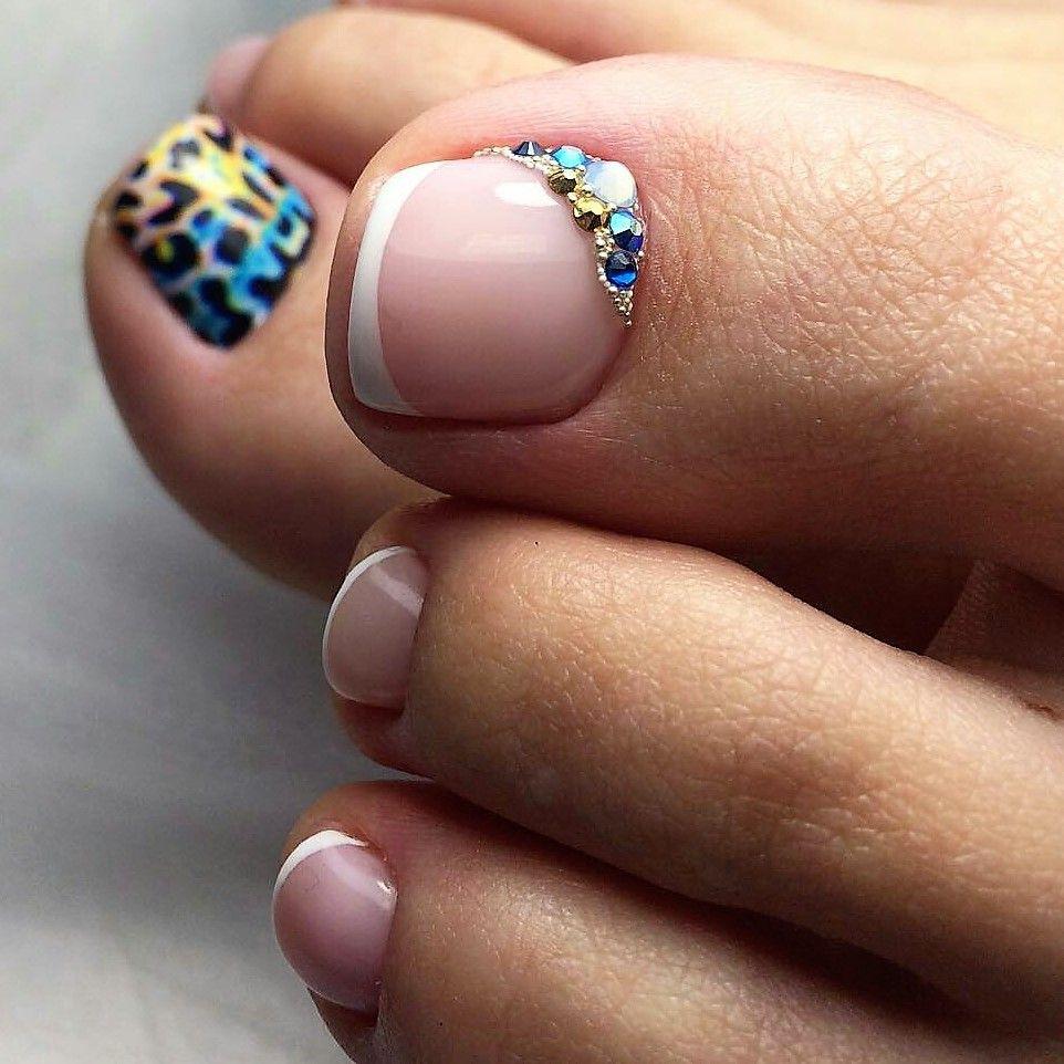French Toe nail Art   TOE NAIL ART   Pinterest   French toe nails ...