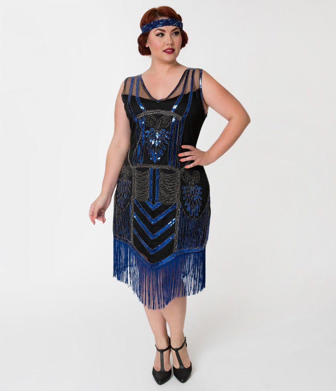 1920s Style Dresses 20s Dresses Plus Size Black Dresses Dresses Vintage Inspired Cocktail Dress [ 1275 x 1095 Pixel ]