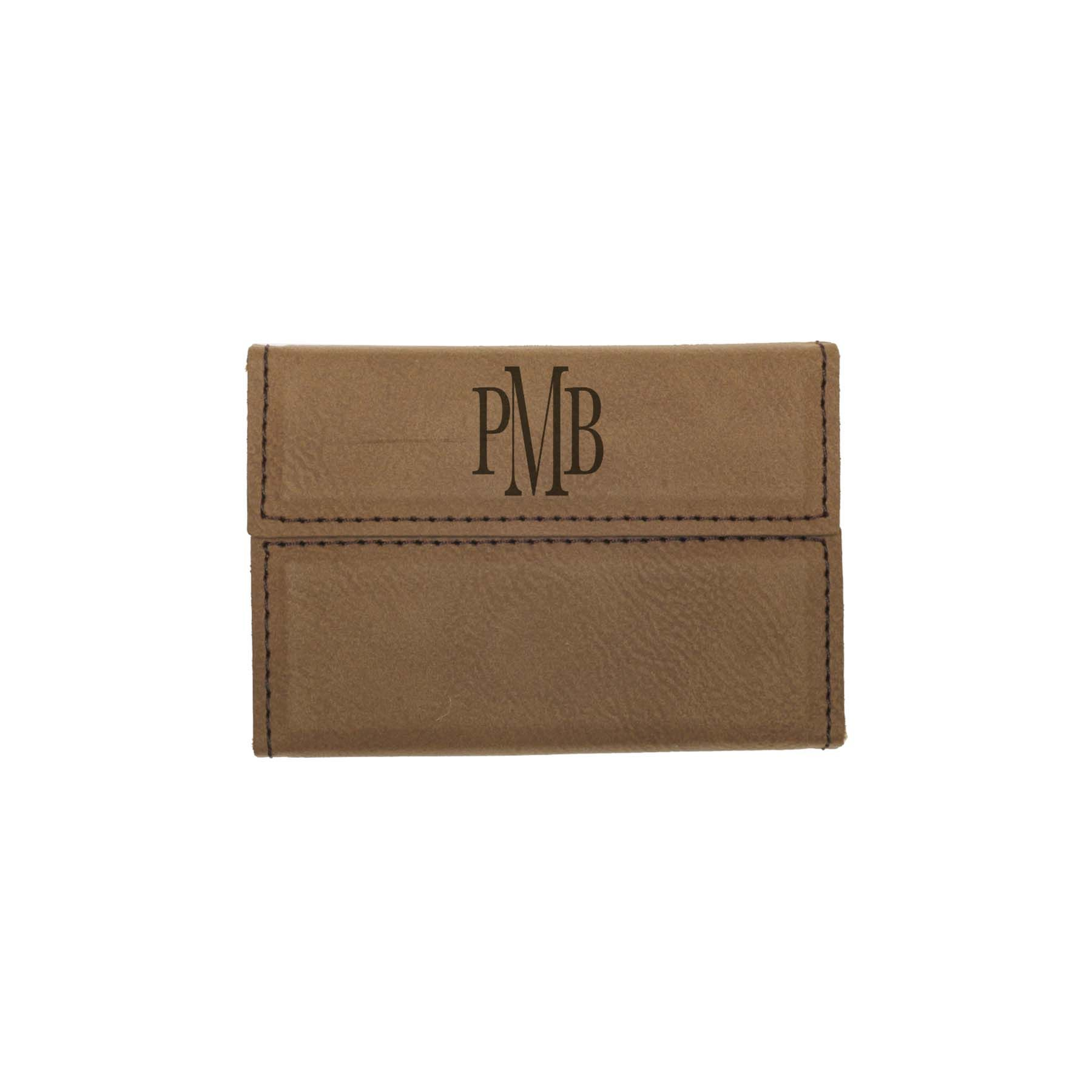 These classy engraved leatherette business card holders are great ...