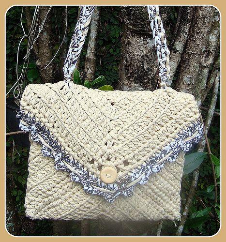 Bolsas, Sacos ou Malas em Trapilhos - Crochet Rag Bags