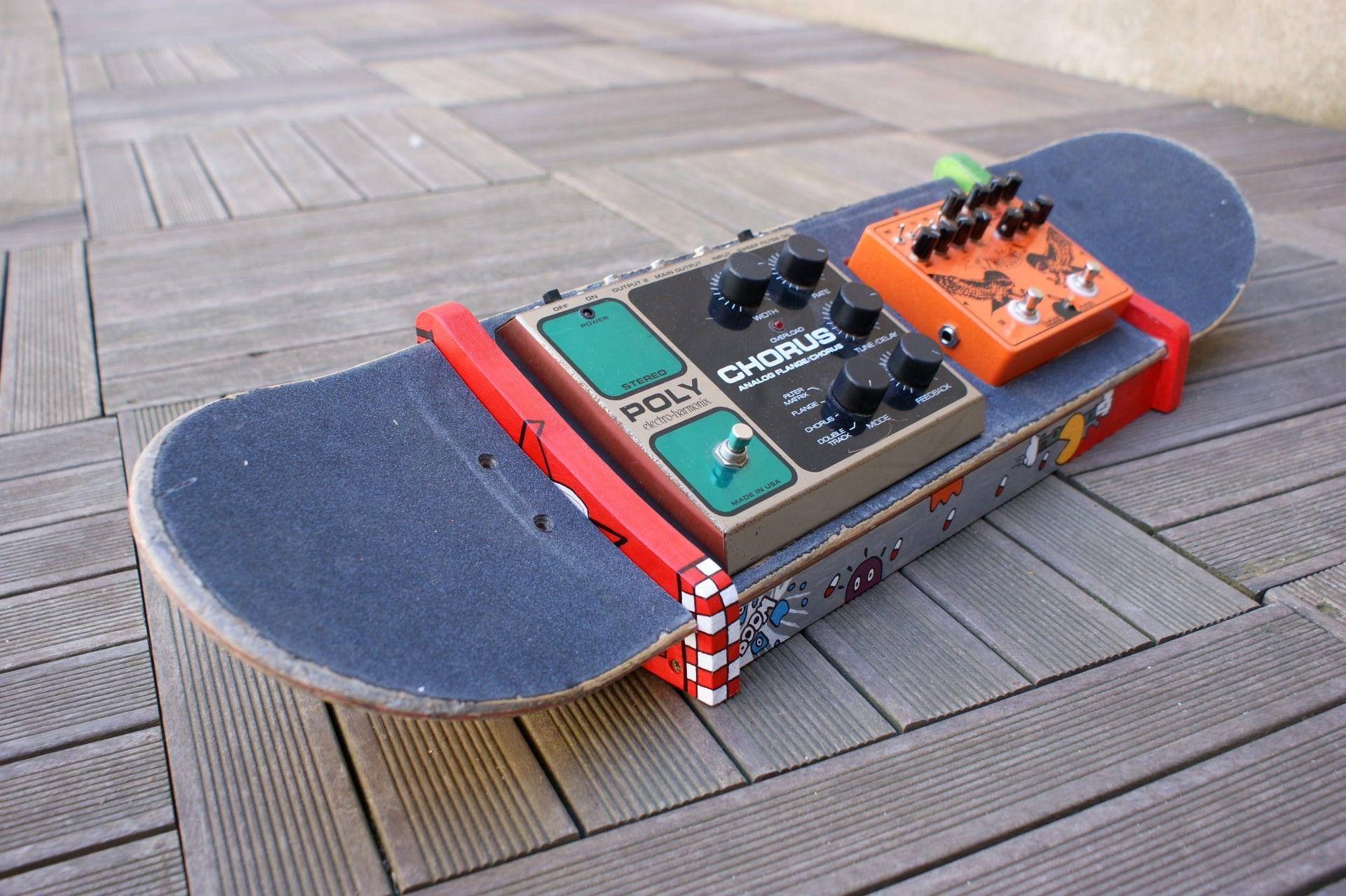 Pedalboard Skateboard Pedales De Guitare Guitare Musique