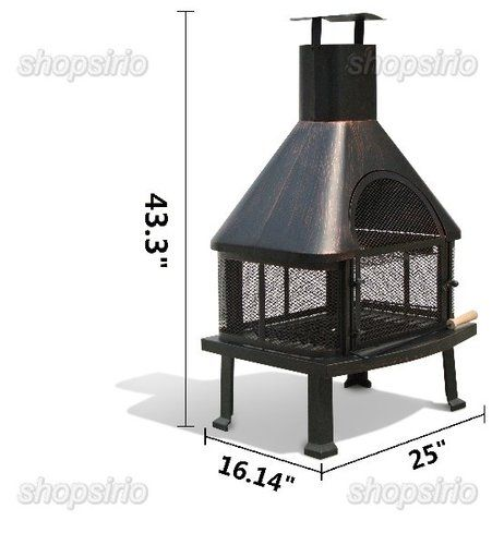 Outdoor Deck Or Patio Firehouse Fire Pit Fireplace With