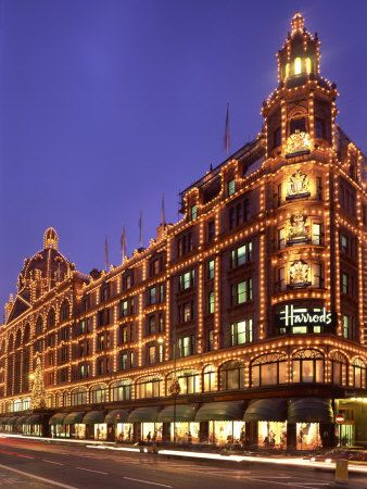 Buy Here Pay Here Knoxville >> Harrods Department Store, Illuminated at Night, Knightsbridge, London, England, United Kingdom ...