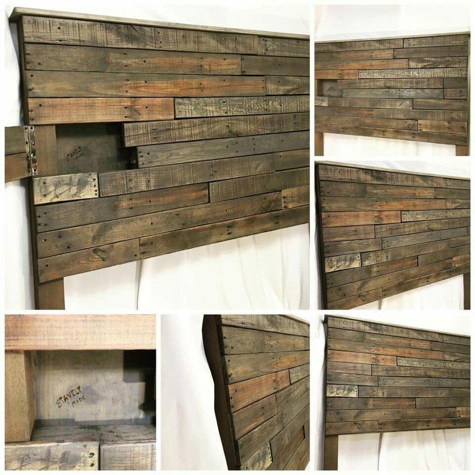 Kopfteil Selber Bauen Anleitung Diy Storage Headboard Headboard With Shelves Wood Headboard