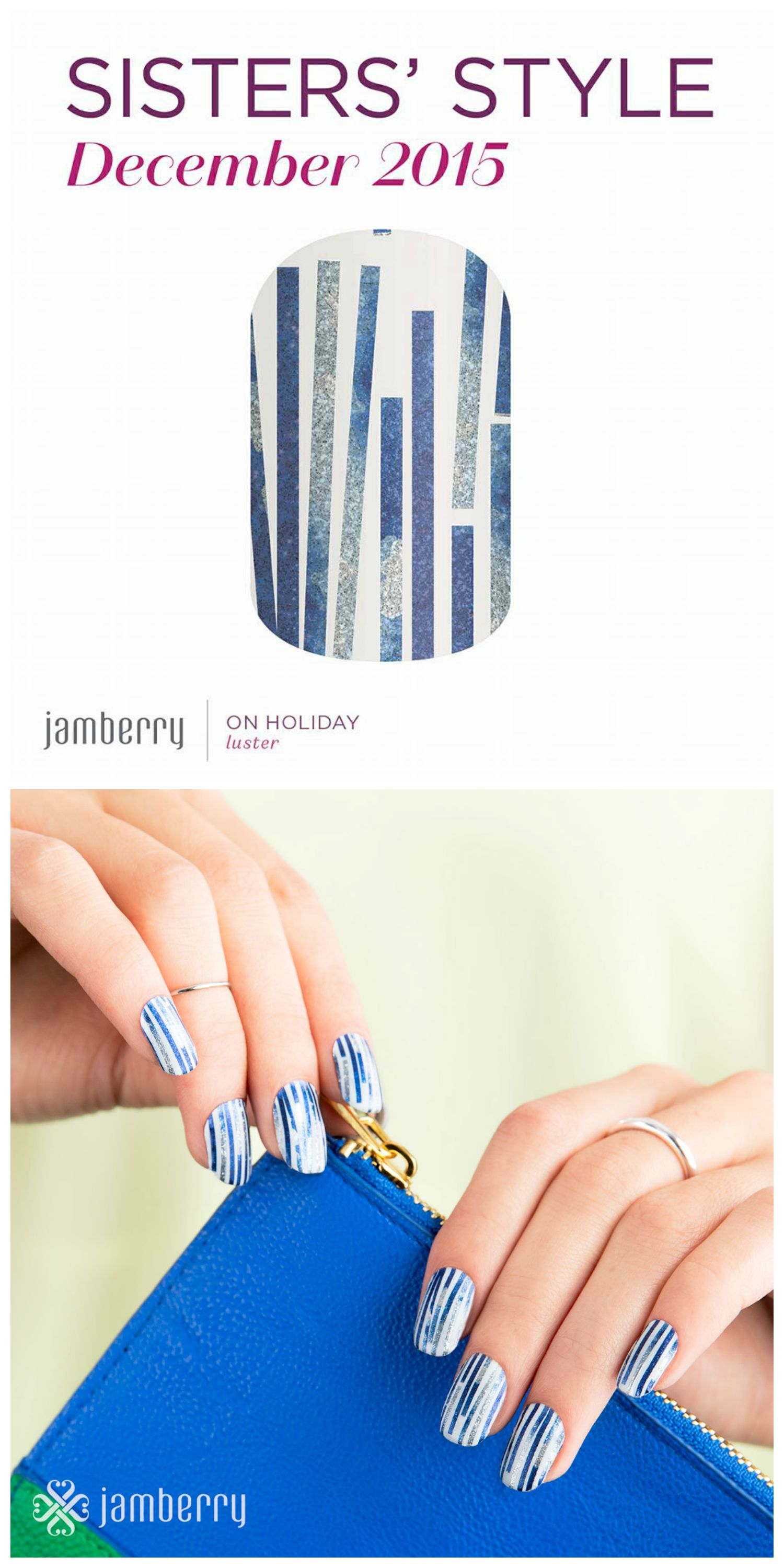 Such a fun play on the Hanukkah/Chanukkah colors! Jamberry\'s ...