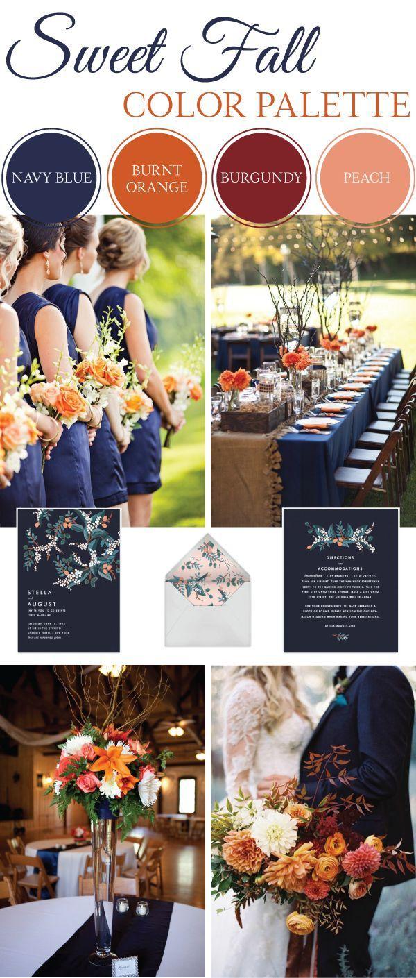 sweet fall wedding color palette fall wedding inspiration peach