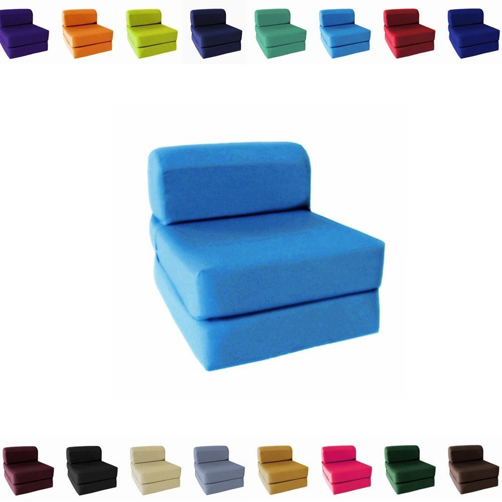 Sleeper Chair Folding Foam Bed Details About Choose Size Single Twin Full Sleeper Chair Seat