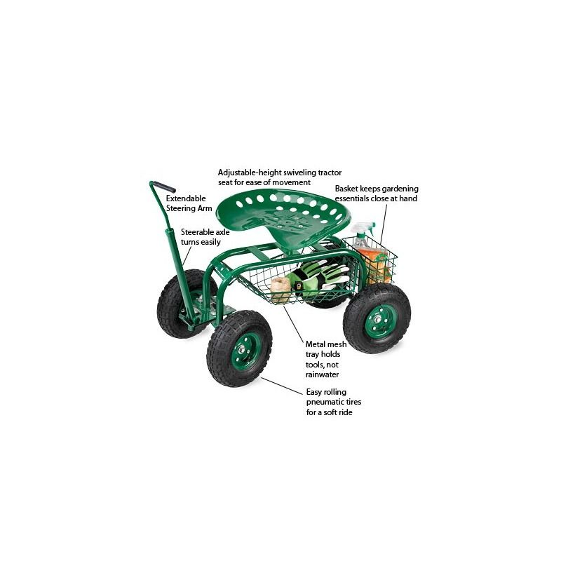 Green Rolling Scoot N Do Garden Seat With Images