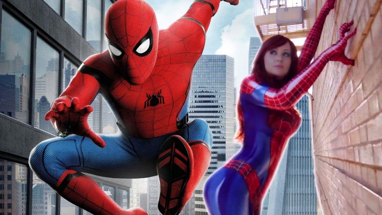 nice Spider girl and Spiderman vs Venom More videos! ? //bit  sc 1 st  Pinterest & nice Spider girl and Spiderman vs Venom More videos! ? http://bit ...